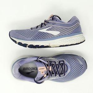 Brooks Ghost 12 Running Shoe Slate Grey Silver 7.5